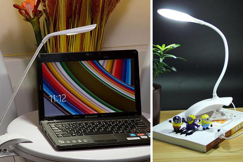 14 LED Adjustable Clip-On Desk Lamp for £4.99