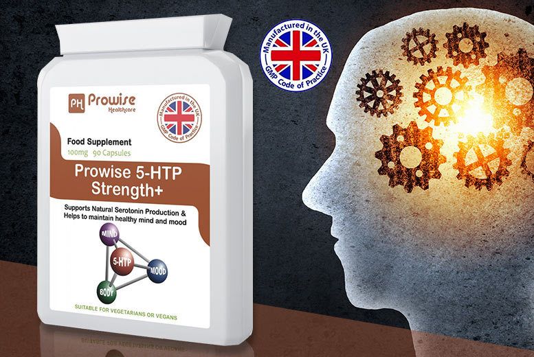 3mnth Supply* of Prowise 5-HTP Serotonin Supplements for £9.99