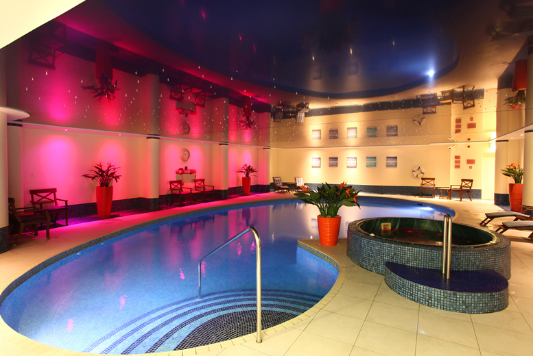 From £119 (at Best Western Heronston Hotel and Spa) for a Bridgend spa break for two people with breakfast, dinner, a treatment each and late check-out - save up to 38%