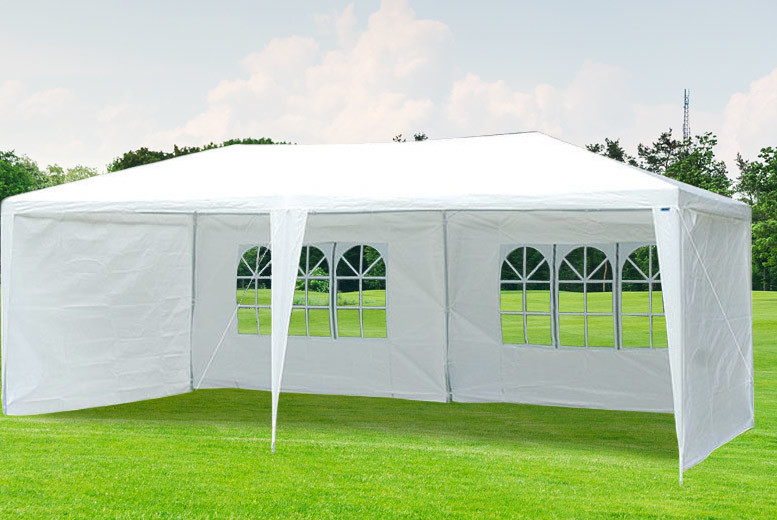 £49 instead of £190 (from Sashtime) for a 6 metre gazebo marquee tent - save 74%