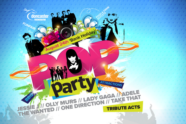 £12 for two tickets to the Pop Party concert on the 24th August at Doncaster Racecourse, £19 for four or £29 for six - save up to 50%