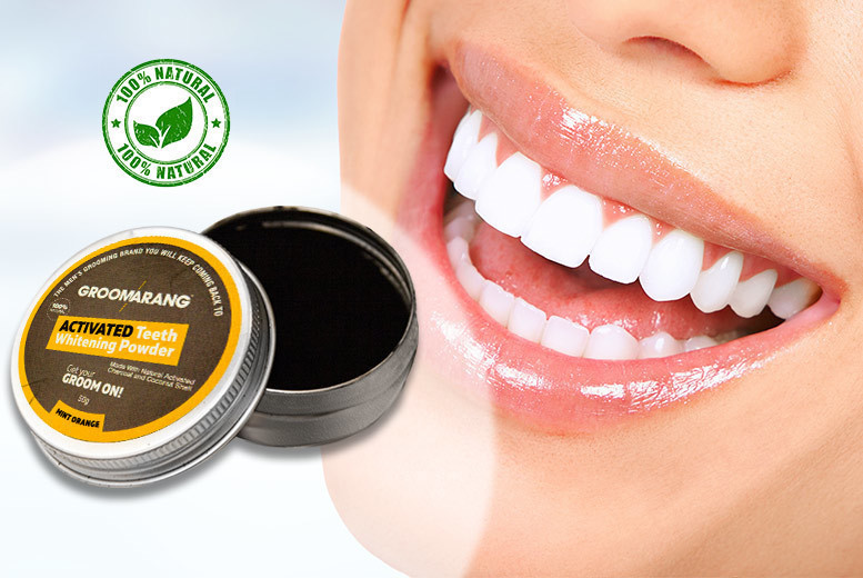 50g Mint Orange Activated Charcoal Teeth Whitening Powder for £4.00