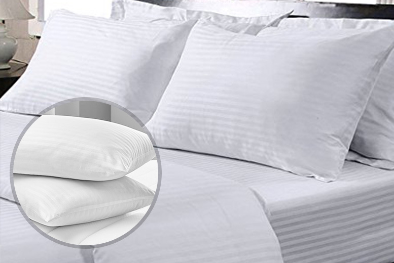 4 Hotel-Quality Stripe Pillows for £9.99