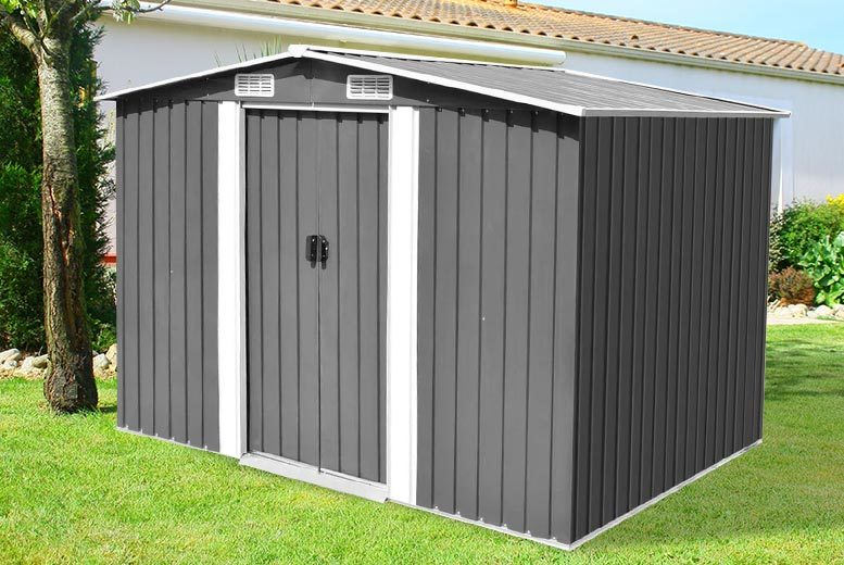 Image of £179 instead of £780 (from Vida XL) for a metal storage shed or £249 for an extra-large storage shed - save up to 77%