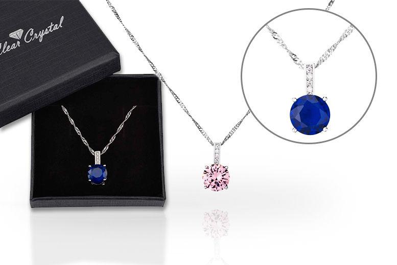 Created Sapphire Pendant - 2 Colours!