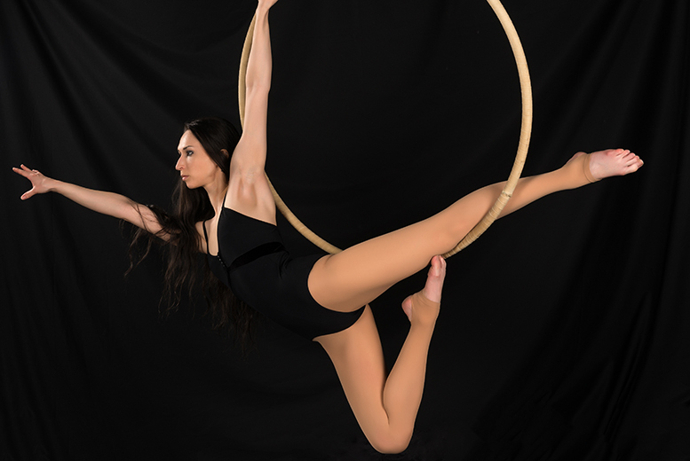 £9 instead of £35 for four one-hour aerial hoop classes at Pole Princess, Glasgow - get fit the fun way and save 74%