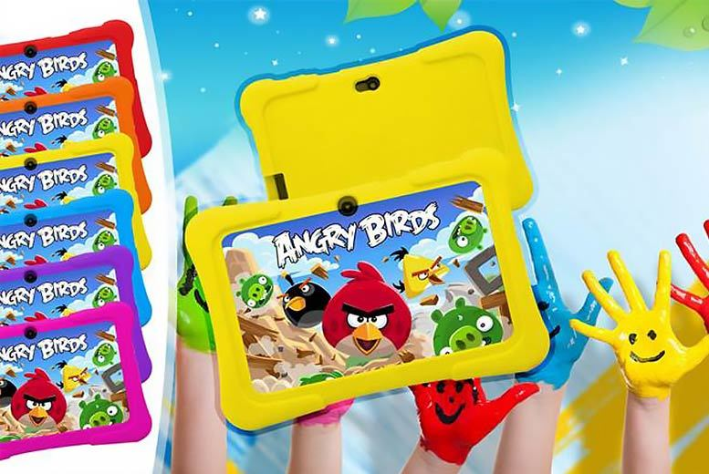 £29 instead of £129.99 for a kids' seven-inch dual-core touchscreen Android tablet and silicone case - choose from six colours and save 78%