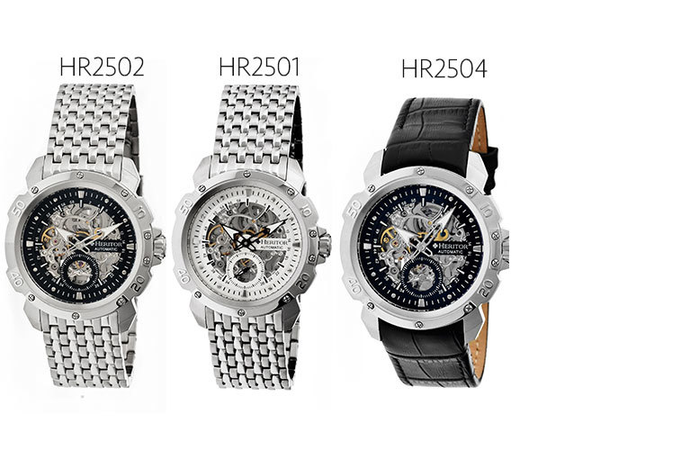 From £179 instead of up to £1030 for a men's automatic Heritor Carter watch - choose from six styles and save up to 83%