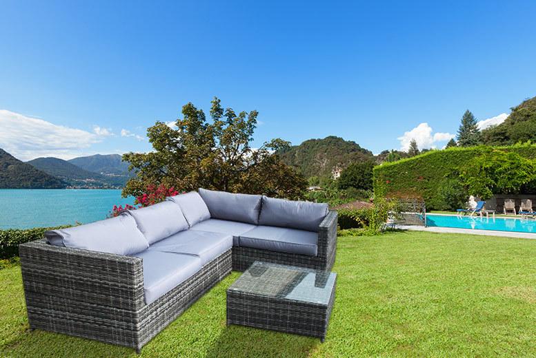 4 seater rattan garden corner sofa set