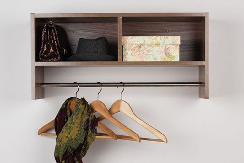 Wall Mounted Coat Hanger with Shelf - 2 Colours!