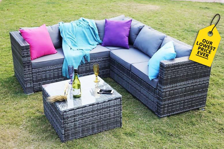 5-Seater Yakoe Monaco Rattan Corner Sofa Set