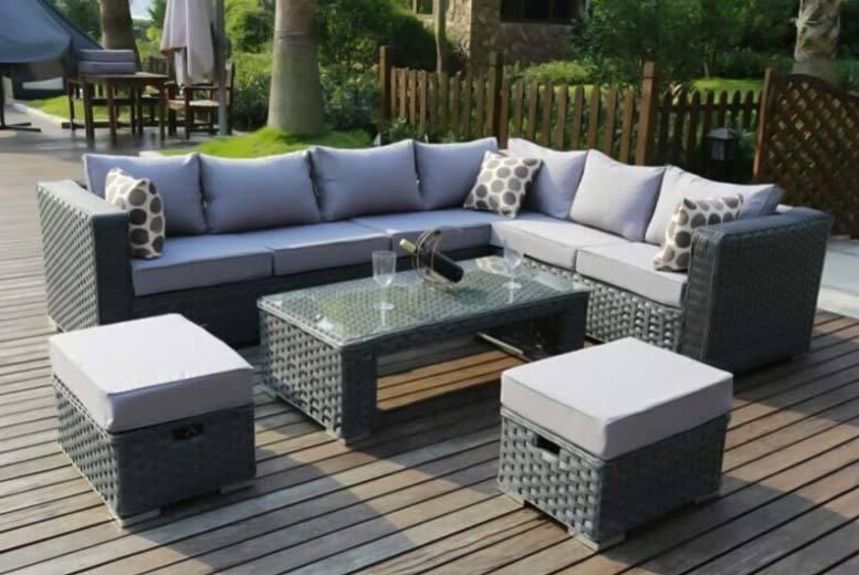 8 seater rattan furniture set