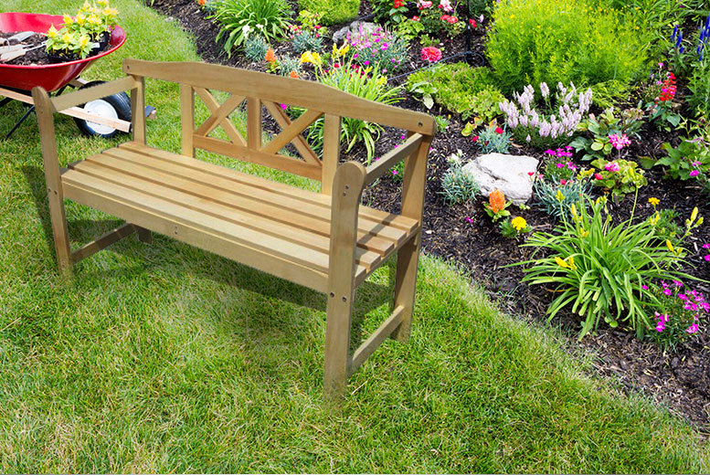 £22 instead of £53 for a two-seater wooden garden bench - sit back and save 58%