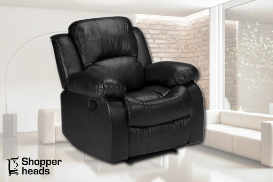 £299 instead of £799 for a Madeira black or brown leather reclining chair from Shopperheads – relax with a saving of 63%