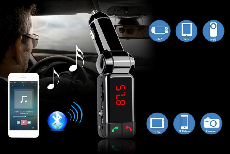 £7.99 instead of £38.99 for a Bluetooth hands-free car kit - save 80%