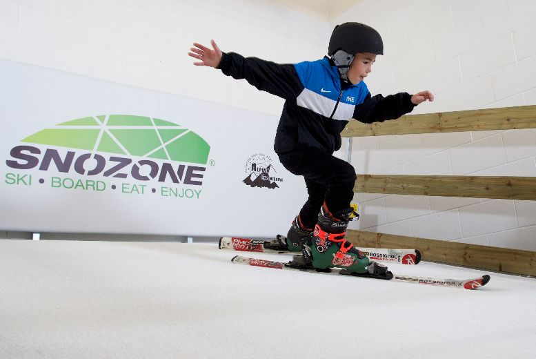 £13 instead of £34.99 for a Junior Indoor Skiing or Snowboarding Lesson from Snozone - save 63%