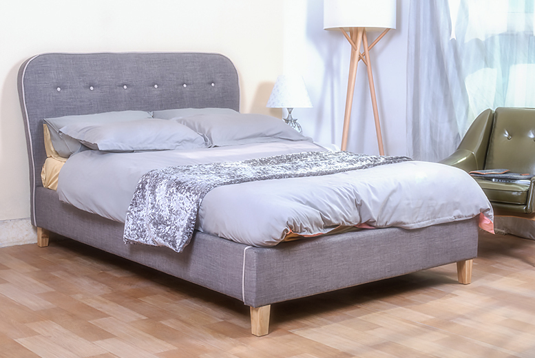 Grey Cairo Fabric Bed