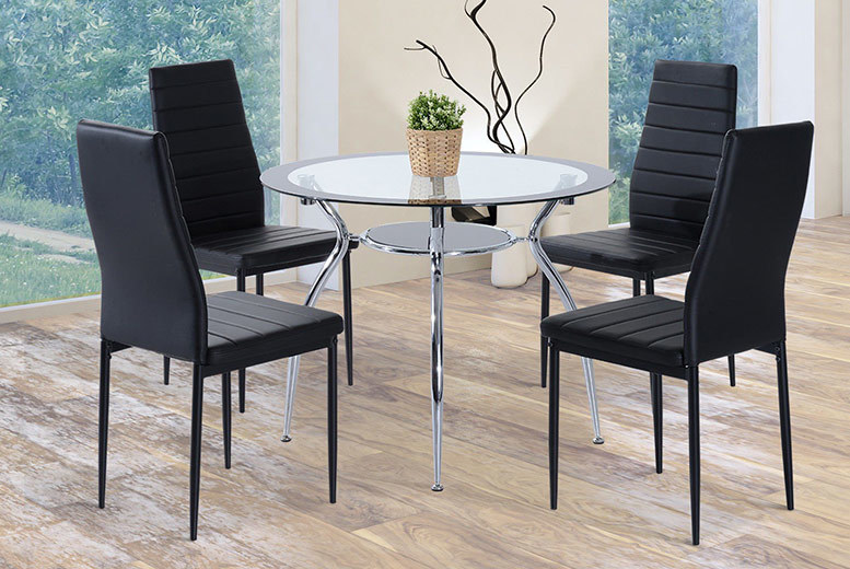 5pc Tempered Glass Dining Set