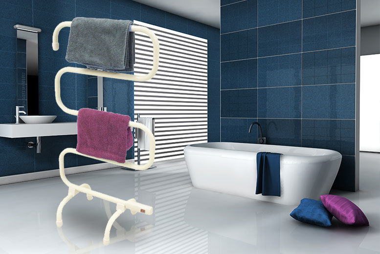 S-Shaped Heated Towel Rail for £19.99
