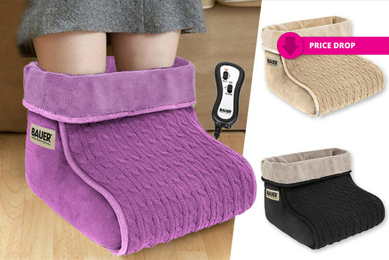 Fleece Lined Foot Massager with 2 Speed & Heat Settings - 3 Colours!
