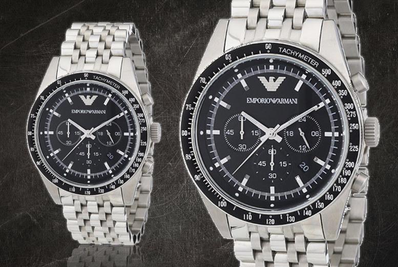 Men's Emporio Armani Stainless Steel Tazio AR5988 Watch