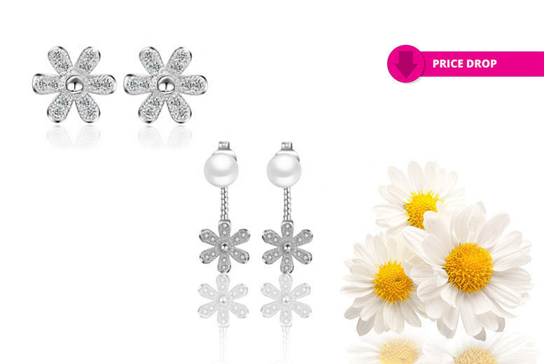 Daisy Earring Duo Set – 2 Pairs! for £7.00