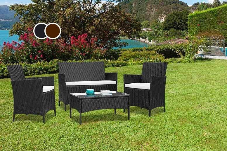 £109 instead of £470 (from Furniture Instore) for a four-piece rattan set - save 77%