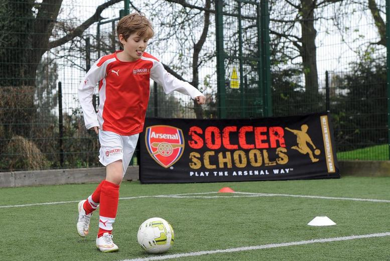 £29 instead of £60 for a three-day kids' summer soccer school from Arsenal Soccer School - choose from three locations and save 52%