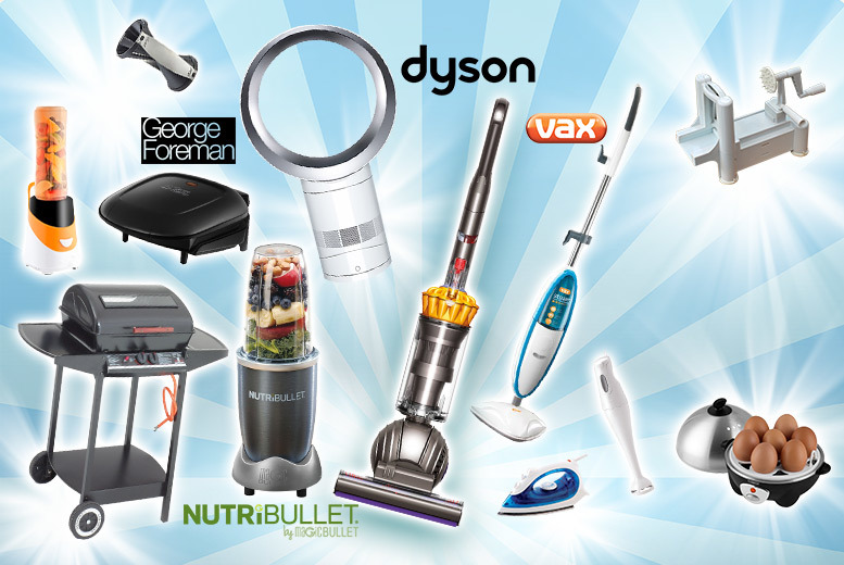 From £10 for a mystery kitchen gadget deal - Dyson bladeless fan, Nutribullet, Dyson DC40 vacuum, Tower egg cooker, spiraliser and more!