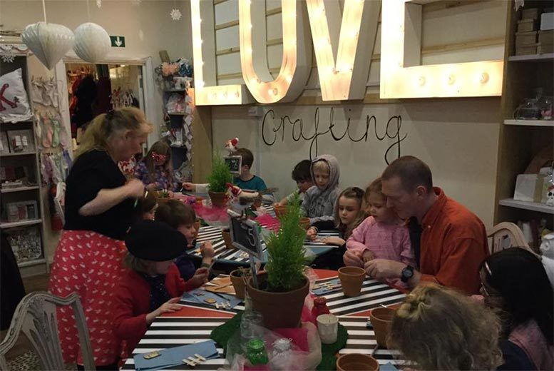 £6 for a parent & child breakfast club craft event at Katie's Garden