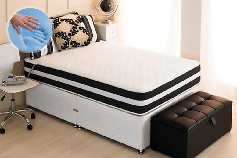 3D Ortho Cool Blue Memory Sprung Mattress - 5 Sizes!