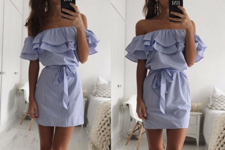 Boho Strapless Mini Dress – 4 Colours! for £8.00