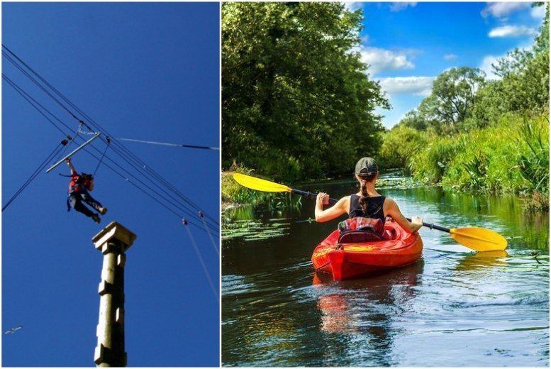 £14 instead of £30 for a two-hour outdoor adventure experience including high ropes and canoe rafting at Colwick Park Adventure Centre