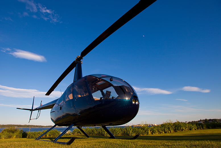 £39 for a helicopter buzz flight for one person, £78 for two people from Northumbria Helicopters