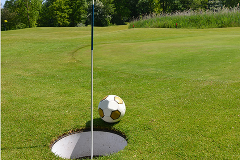 £9 instead of £18 for 18 holes of 'foot golf' and a drink for two people, £19 for five people people at Calverley Golf Club, Woodhall Hills - save up to 50%