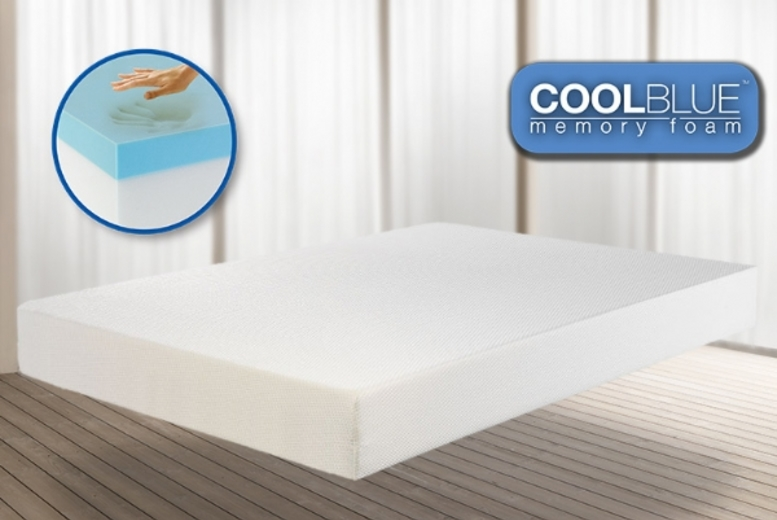 £69 for a single Comfort CoolBlue™ memory foam mattress, £89 for a double mattress or £109 for a king mattress - save up to 82%