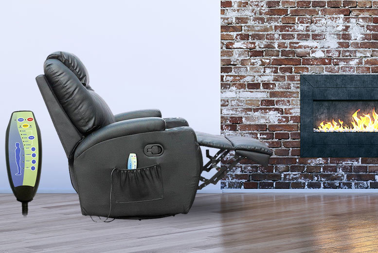 £189 instead of £494 for a reclining massage chair with 10 different features - choose from red, black and cream colours and save 62%