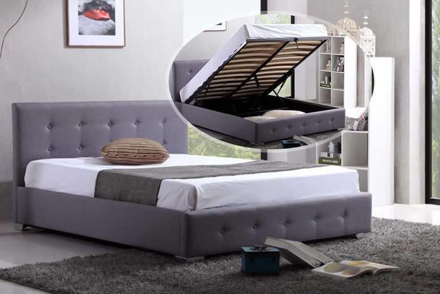contemporary fabric ottoman storage bed
