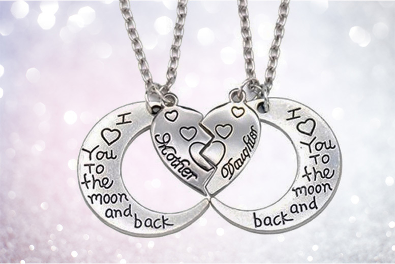 Pair of 'I Love You To The Moon And Back' Necklaces for £9.99