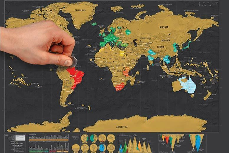 World Scratch Map for £5.99