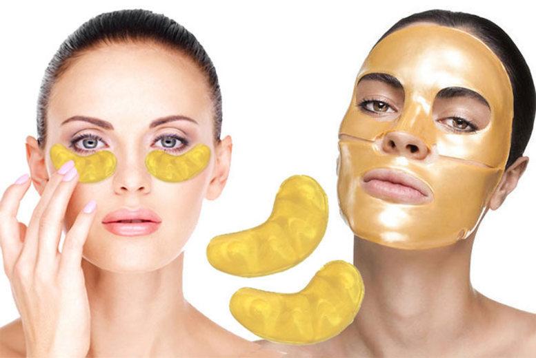 20pc Gold Collagen Face & Eye Mask Bundle