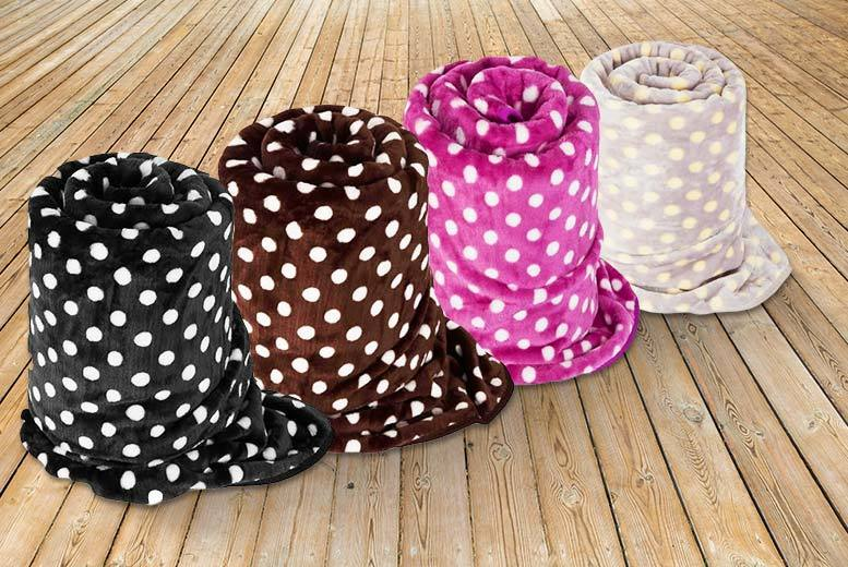 Polka Dot Throw - 4 Colours!