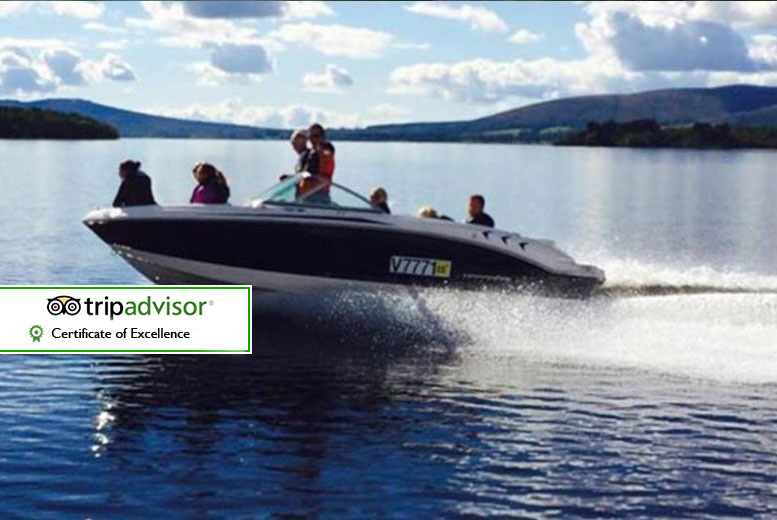 £29 instead of £60 for a 30-minute private luxury speedboat tour for up to seven people at Loch Lomond Leisure, Rowardennan - sail away and save 52%