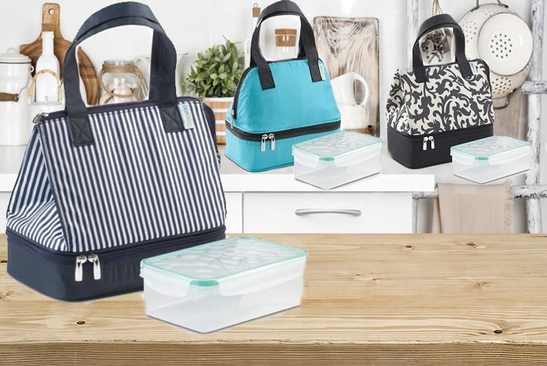 Thermal Lunch Bag & Tupperware Container for £3.99