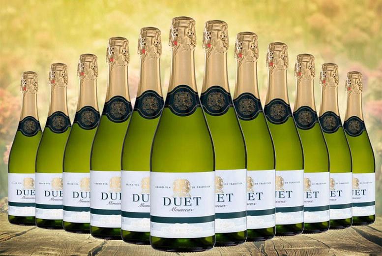 12 Bottles of Duet White Brut Sparkling Wine for £39.99
