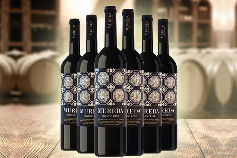 6 Bottles of 'Mureda' Red Organic Wine