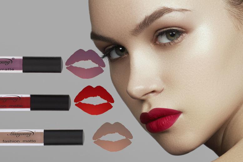 3 Matte Lipsticks from £4.99