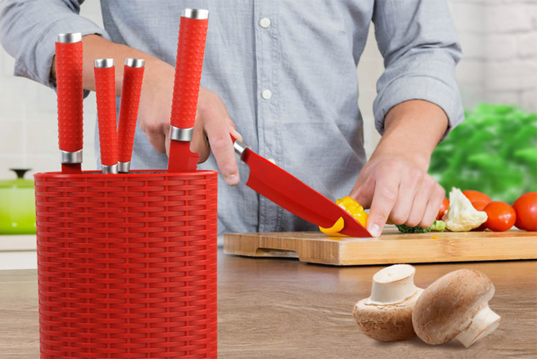 Grunwerg Knife Block – 2 Colours! for £14.99