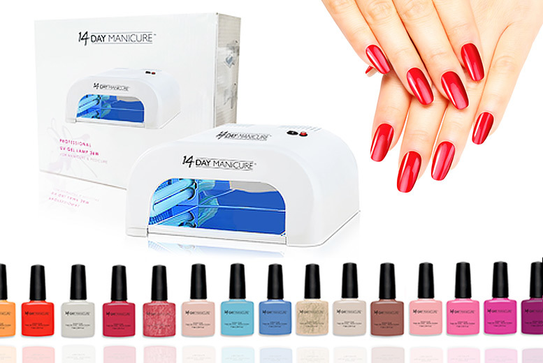 10 'Choose Your Own' Gel Nail Colours & UV Lamp for £49.99