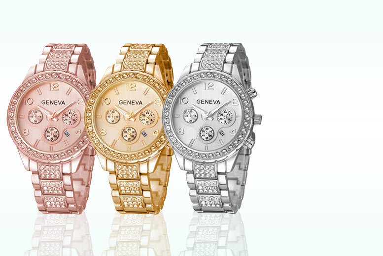 £12 instead of £79.99 for a crystal Freya watch - choose from three colours and save 85%